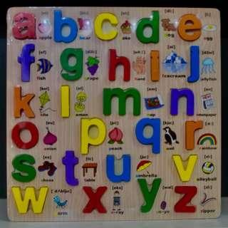 Chunky Alphabet Puzzle - Lowercase with figures