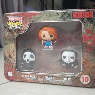 Pocket Pop : 10 : Horror series / Ghost Face, Chucky, Billy