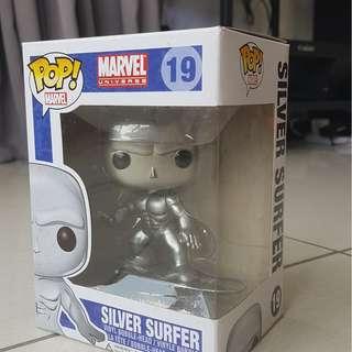 Funko Pop Bobble Head : 19 : Marvel Universe Silver Surfer