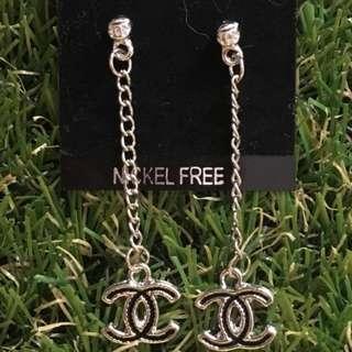 brand new Chanel dangling earrings