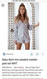 Sabo skirt set BNWT