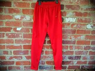 Nike Slim/Skinny Red  Pants Track Running Joggers M Dry Fit