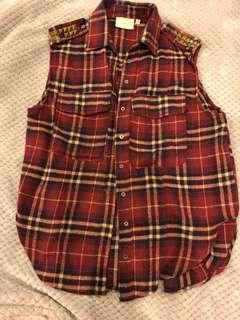 Checkered Studded Vest
