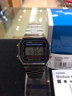 Casio A168WA-1W (100% Original)