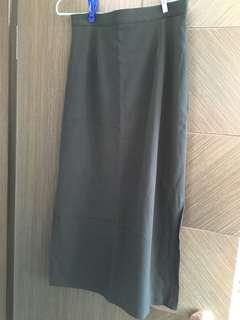 墨綠色長裙Dark green Pencil Skirt
