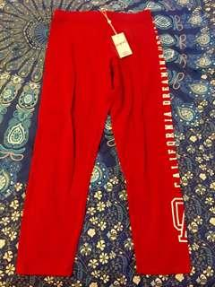 Bnwt red leggings tights size M