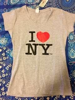 Bnwt grey I love ny T-shirt size L