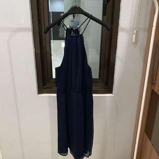 Dress Navy ZARA