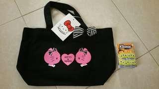 Hello Kitty 黑色小袋(包平郵)