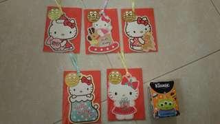 Hello Kitty 聖誕小卡 5個一套(包平郵)