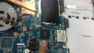 Sony laptop no power tak boleh on Repair