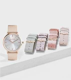 Aldo multi-strap watch women (5 straps)
