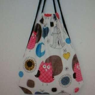 Owl Drwastring Bag