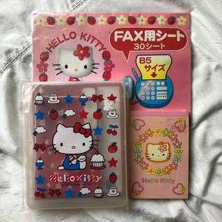 💯Authentic Hello Kitty stationery set