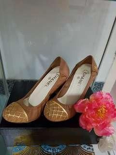 Authentic Brown Chanel shoes