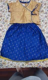 Diwali Fab india ethinic Indian costume for girl for dipawali