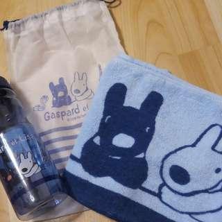 🚚 水壺+毛巾