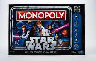 Star Wars Monopoly Game: 40th Anniversary Special Edition