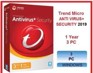 Trend Micro Anti Virus Security 2019 - 3 PC