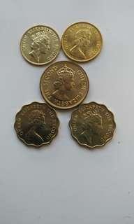 全新女皇頭硬幣