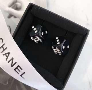 Chanel bnib limited edt dice ear studs