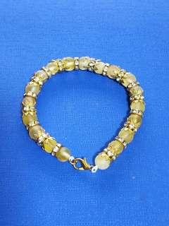 Natural Baltic Amber bracelet Russian Style