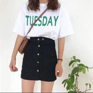 Sales‼️Denim Button Down Skirt