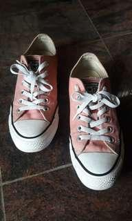 Coral Pink Converse Low Top Peach