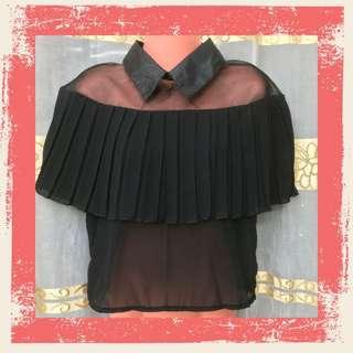Black Collared Blouse