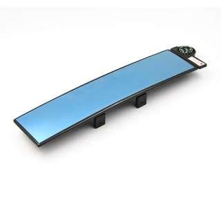 CAR Rear View Central curve type (BLUE) Mirror 300mm with COMPASS & THERMOMETER -YCL-896B