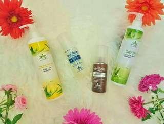 Hair care shampoo (2 sets) left yellow shampoos WHILE STOCKS LAST
