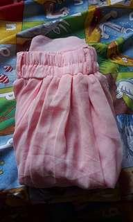 Long Peach Pink Skirt