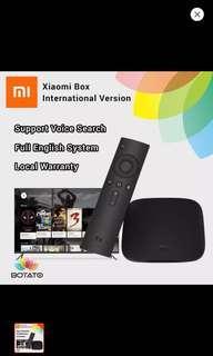 [Xiaomi Mibox International English UI]] Original Genuine Xiaomi box Mibox (Android Tv Box) + 3 months IPTV subscription