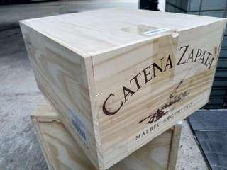 特色紅酒箱 揭蓋 (370x325x210mm高)