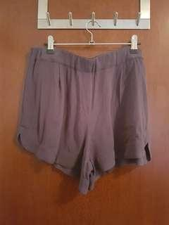 Grey fabric shorts