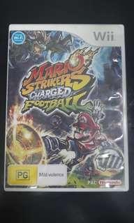 Wii Game Mario Striker Charged Football
