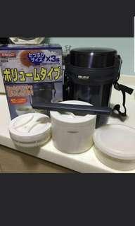 Endo 1.8lt vacuum steel lunch box