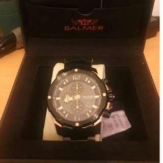 賠售 BALMER賓馬 三眼計時夜光手錶 型號:7978