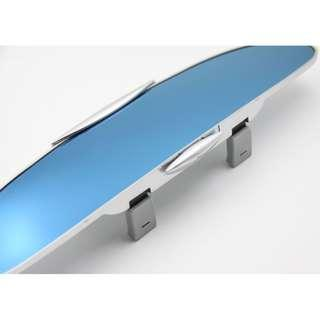 YCL-885 HIGH QUALITY CHROME SURFACE COATING Blue Rearview Curved Mirror  300MM