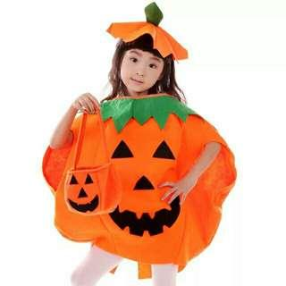 Halloween Pumpkin Costume (Dress and hat only)