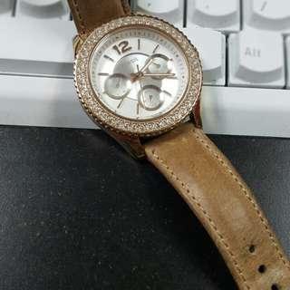 Fossil Stella Leather Watch