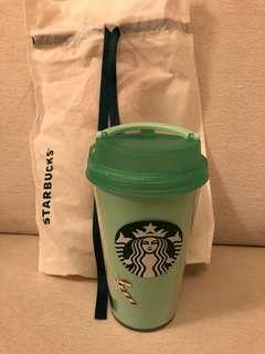 Starbuck green Xmas theme cup