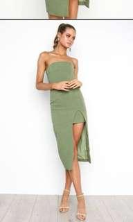 PETAL AND PUP GREEN STRAPLESS DRESS SIZE6