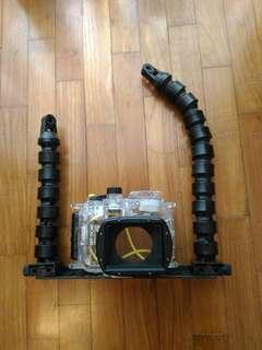 Double handle camera tray YS mount