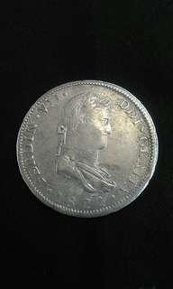 1821 Spanish Hispan Ferdinand VII 25 Pesos(Silver)