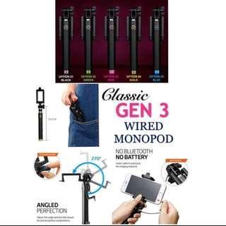 Classic Gen 3 Wired Monopod