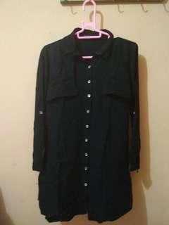 Blouse Tunik Details Black