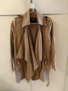 Beige Middle Jacket Coat Top 卡其色中長款外套襯衣