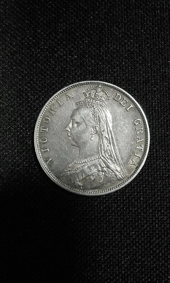 1887 Great Britain Queen Victoria Half Crown(Silver)