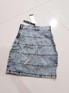 Wash jeans skirt